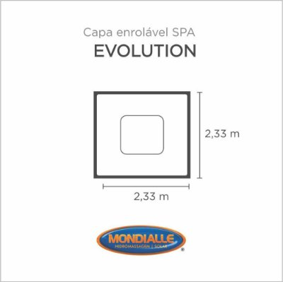 Capa Spa Enrolável Spa Evolution Mondialle
