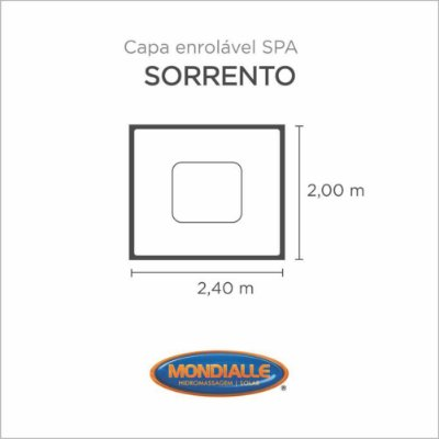 Capa Spa Enrolável Spa Sorrento Mondialle