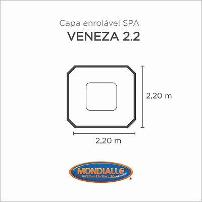 Capa Spa Enrolável Spa Veneza 2.2 Mondialle