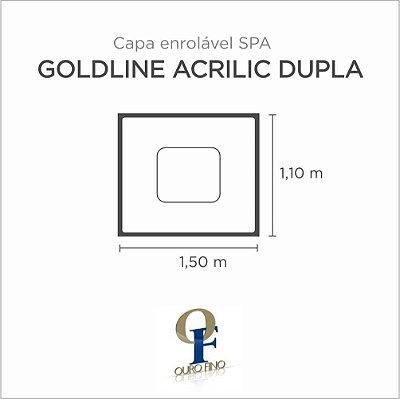 Capa Spa Enrolável Banheira Goldline Acrílica Dupla Ouro Fino