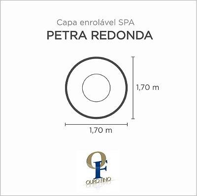 Capa Spa Enrolável Banheira Petra Redonda Ouro Fino