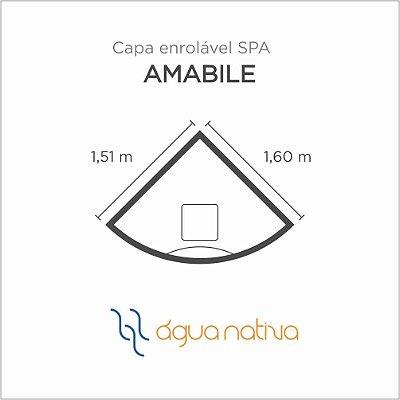 Capa Spa Enrolável Banheira Amabile Agua Nativa