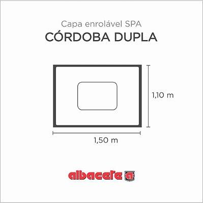 Capa Spa Enrolável Banheira Cordoba Dupla Albacete