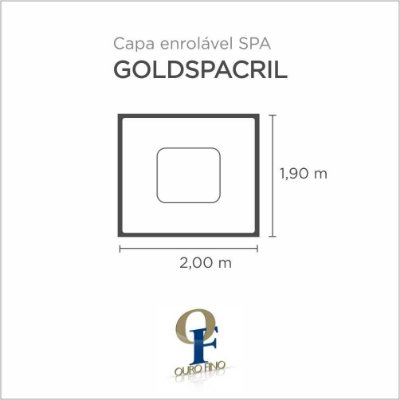 Capa Spa Enrolável Spa Goldspacril Retangular Ouro Fino