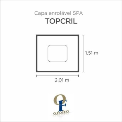 Capa Spa Enrolável Spa Topcril Ouro Fino