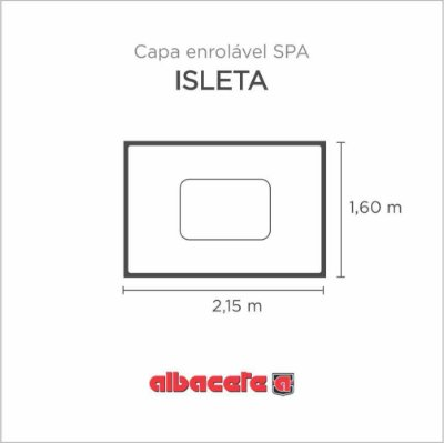 Capa Spa Enrolável Banheira Isleta Albacete