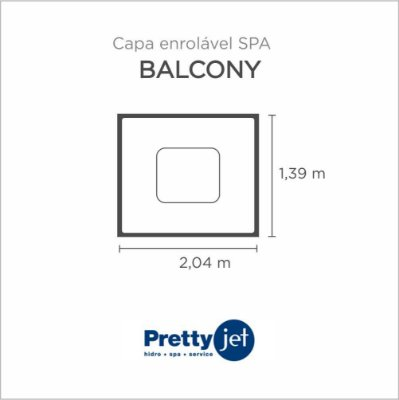 Capa Spa Enrolável Spa Balcony Pretty Jet