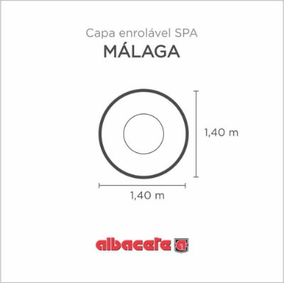 Capa Spa Enrolável Banheira Malaga Albacete