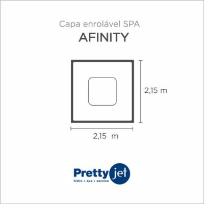 Capa Spa Enrolável Spa Afinity Pretty Jet