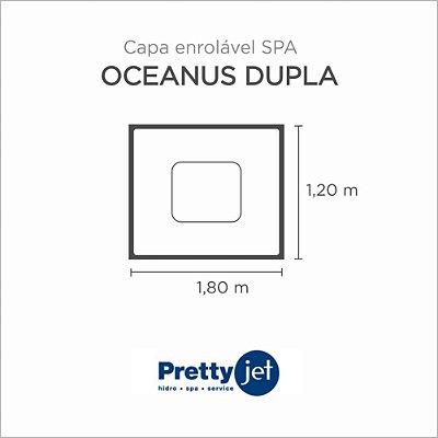 Capa Spa Enrolável Banheira Oceanus Dupla Pretty Jet
