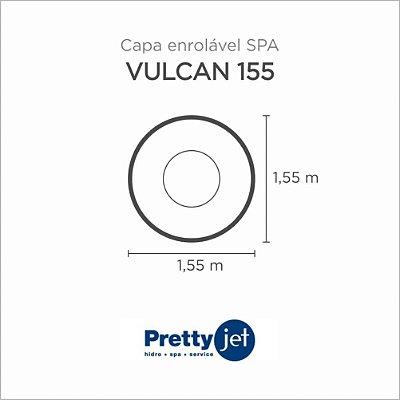 Capa Spa Enrolável Banheira Vulcan 155 Pretty Jet