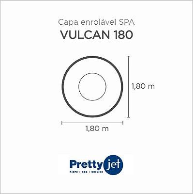 Capa Spa Enrolável Banheira Vulcan 180 Pretty Jet