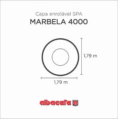 Capa Spa Enrolável Banheira Marbella 4000 Albacete