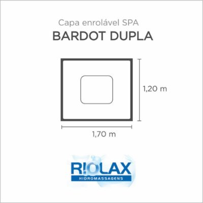 Capa Spa Enrolável Banheira Bardot Dupla Riolax
