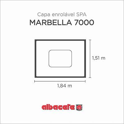 Capa Spa Enrolável Banheira Marbella 7000 Albacete