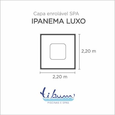 Capa Spa Enrolável Spa Ipanema Luxo Tibum
