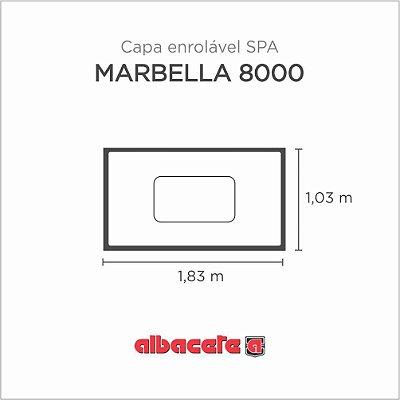 Capa Spa Enrolável Banheira Marbella 8000 Albacete