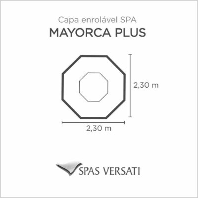 Capa Spa Enrolável Hidro Spa Mayorca Plus Versati
