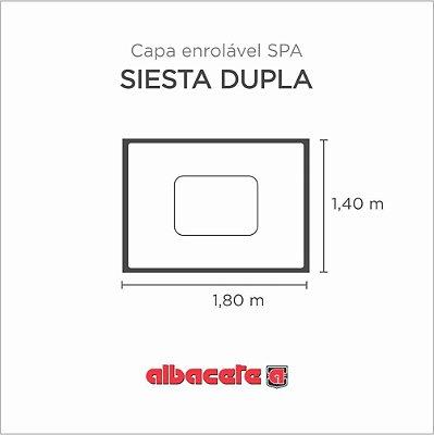 Capa Spa Enrolável Banheira Siesta Dupla Albacete