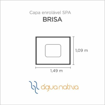 Capa Spa Enrolável Banheira Brisa Agua Nativa