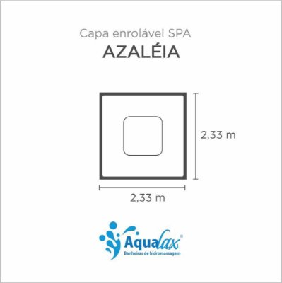 Capa Spa Enrolável Spa Azaléia Aqualax
