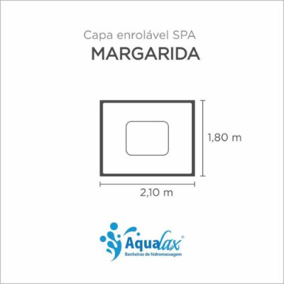 Capa Spa Enrolável Spa Margarida Aqualax