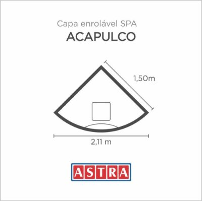 Capa Spa Enrolável Acapulco - Ha04 Astra