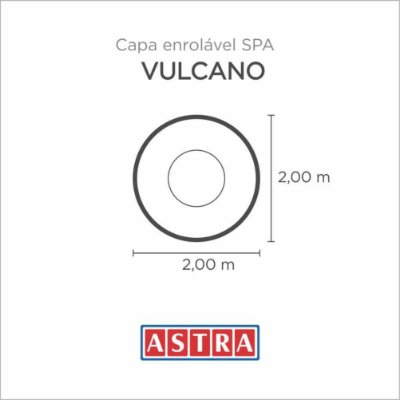 Capa Spa Enrolável Spa Vulcano - Acp13/Ap13 Astra
