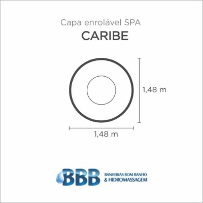 Capa Spa Enrolável Banheira Caribe Bom Banho