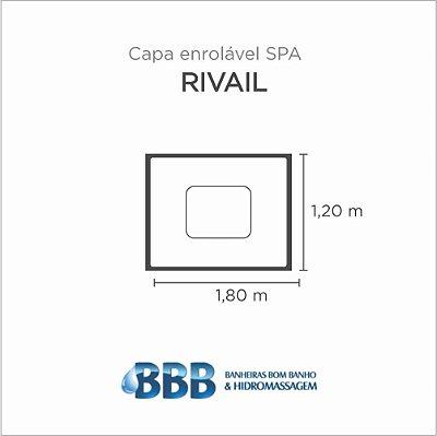 Capa Spa Enrolável Banheira Rivail Bom Banho