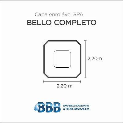 Capa Spa Enrolável Spa Bello Completo Bom Banho