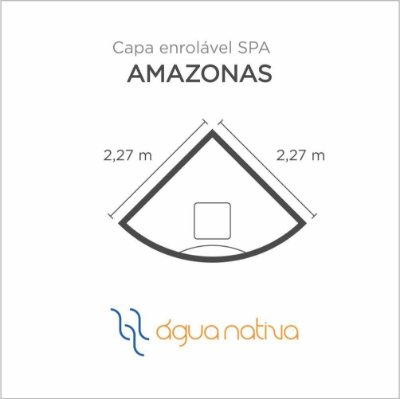 Capa Spa Enrolável Spa Amazonas Agua Nativa