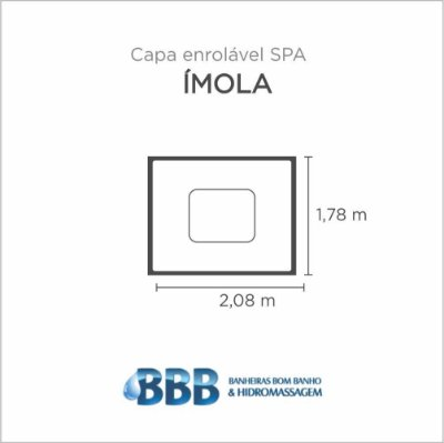 Capa Spa Enrolável Spa Imola Bom Banho
