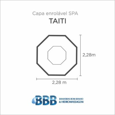 Capa Spa Enrolável Spa Redondo Taiti Bom Banho