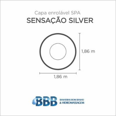 Capa Spa Enrolável Spa Sensacao Silver Bom Banho