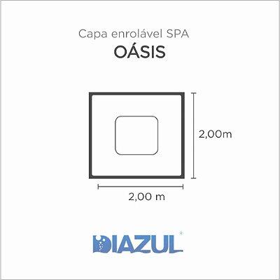 Capa Spa Enrolável Spa Oásis Diazul
