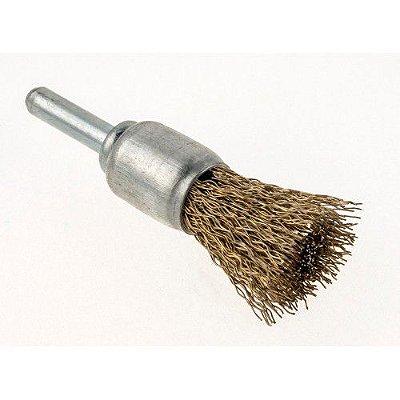 Escova de aço pincel latonada - 20,00mm - Aço Neew