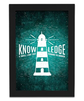 Quadro de Frase - Knowledge