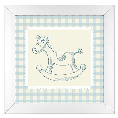 Quadro Infantil Cavalinho - Coleção Baby Boy