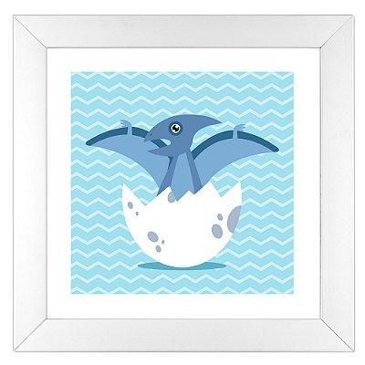 Quadro Infantil Pterodáctilo - Coleção Baby Dino