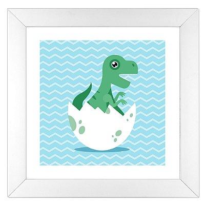 Quadro Infantil T-Rex - Coleção Baby Dino
