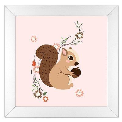 Quadro Infantil Esquilo - Coleção Florestinha