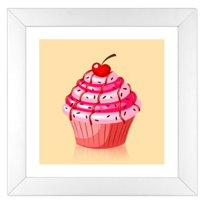 Quadro para cozinha - Cupcake de Cereja - Coleção Sugar Lovers