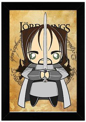 Quadro Senhor dos Anéis - Aragorn by Toonicos