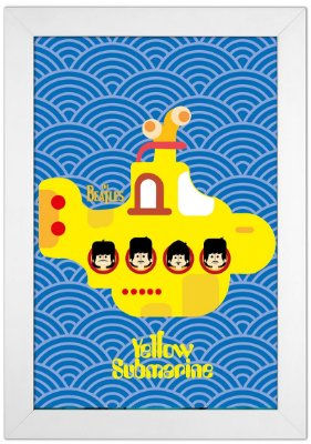 Quadro Beatles by Toonicos
