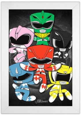 Quadro Power Rangers by Toonicos