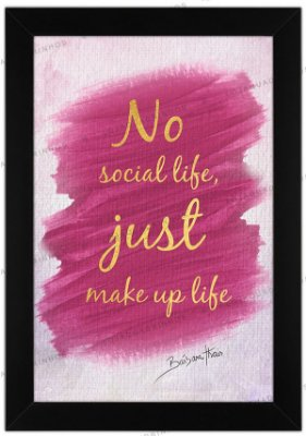 Quadro No Social Life by Bárbara Thais
