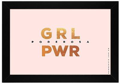 Quadro GRL PWR by Guid - Não Repete - rosê