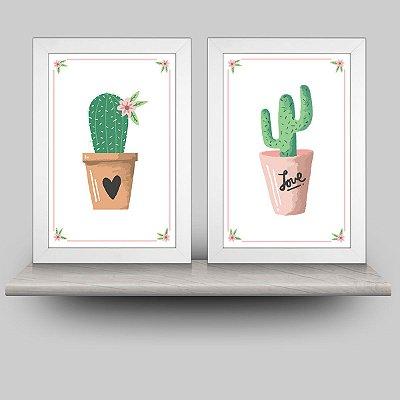 Conjunto Minhas Plantinhas com 2 quadros