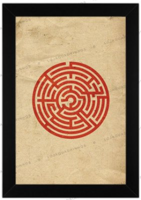 Quadro Minimalista Labirinto